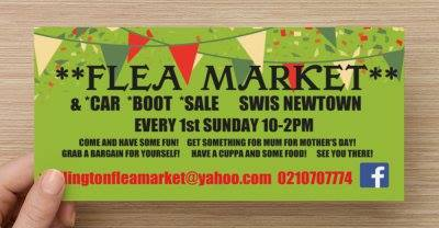 Wellington Flea Market Sale Flyer