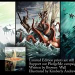 Poster images including a woman climbing a steep icy cliff, a boat being attacked by a giant octopus, and a diver underwater exploring a shipwreck.
