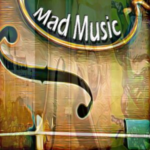 Mad Music cover showing a violin