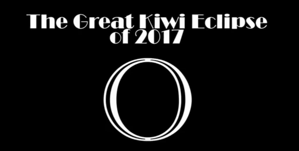 image with the words The Great Kiwi Eclipse of 2017
