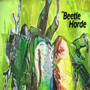 the Beetle Horde cover showing a green and yellow beetle